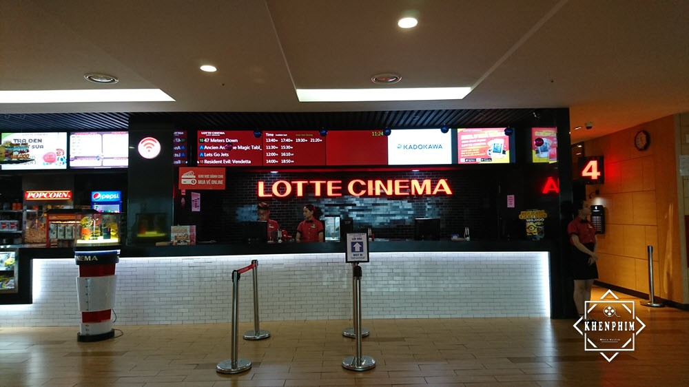 Quầy vé Lotte Cinema Now Zone