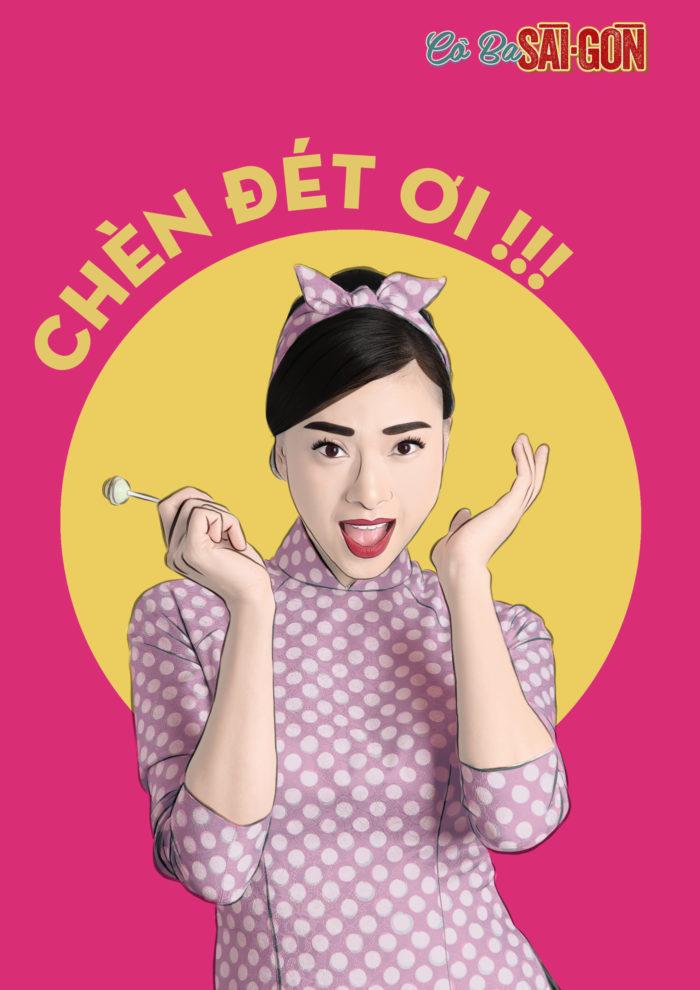 Cô Ba Sài Gòn - popart