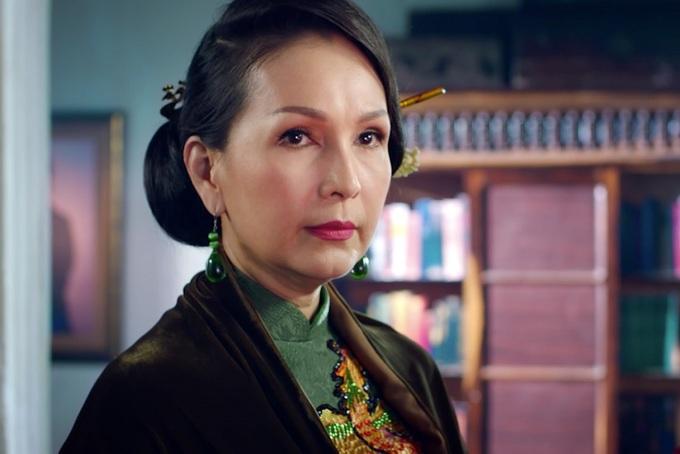 Trong phim Mẹ Chồng, cô Diễm My đa số chỉ diễn xuất bằng ánh mắt