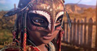 Khuôn mặt của nhân vật rất mịn và hơi giống kiểu đồ họa trong game - Chiến Binh Sa Mạc