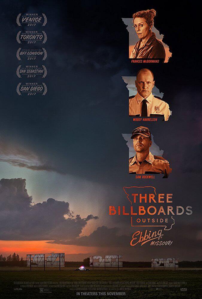 Three Billboards không chỉ ám chỉ 3 tấm biển quảng cáo, mà còn là 3 nhân vật chính mấu chốt trong phim