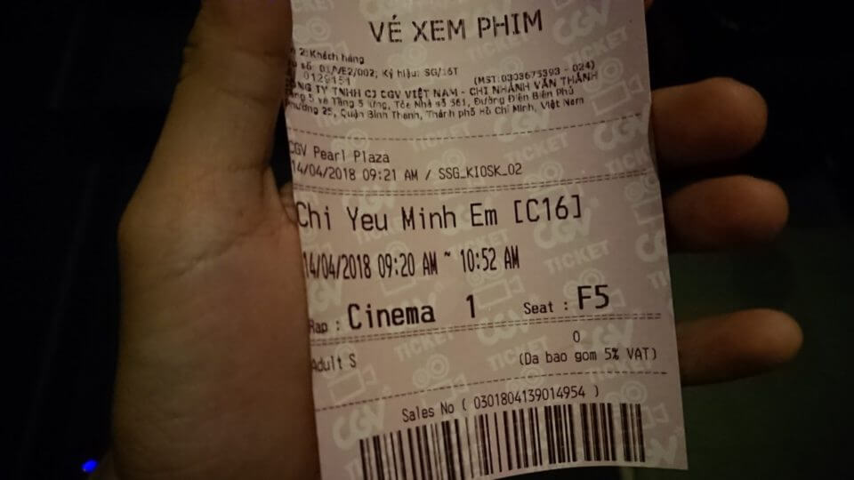 Vé xem phim Chỉ Yêu Mình Em