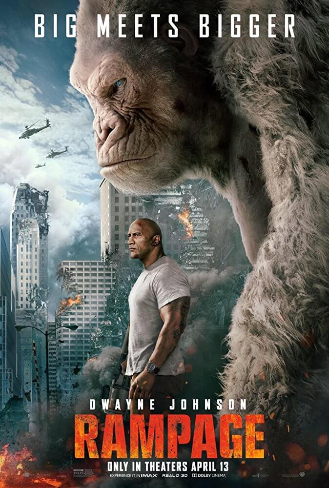 Poster phim Rampage (Siêu thú cuồng nộ)