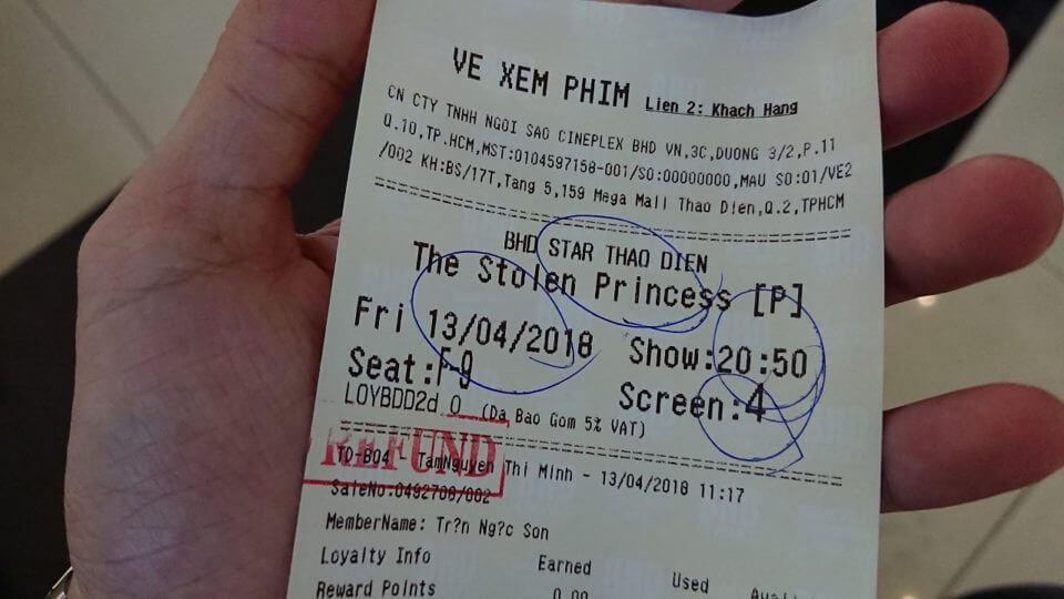 Vé xem phim The Stolen Princess