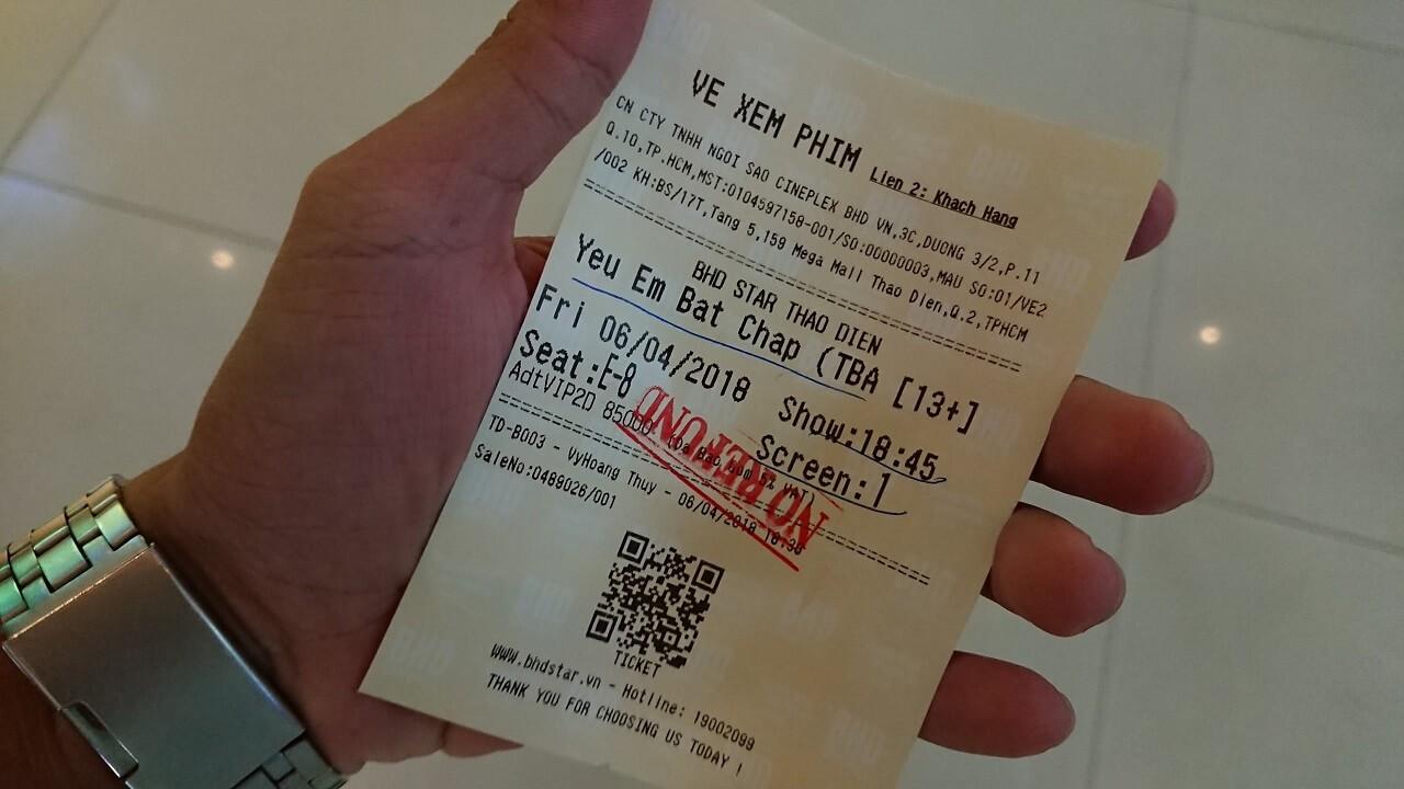 Vé xem phim Yêu Em Bất Chấp