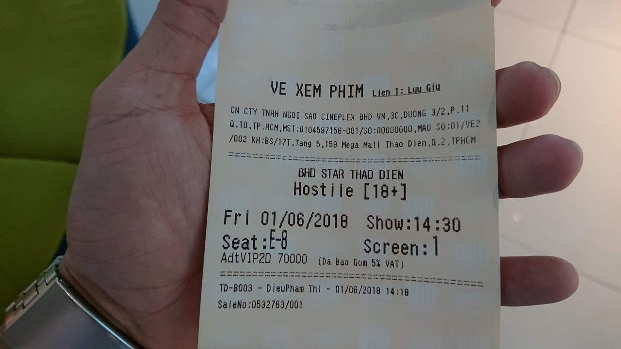 Ngày Sinh Tồn - vé xem phim