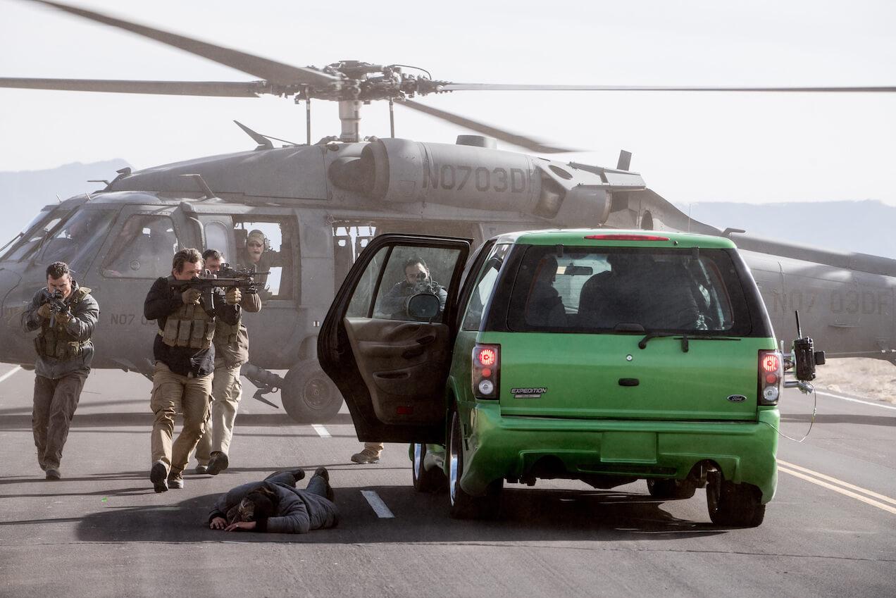 Một cảnh đọ súng trong phim Chiến Binh Mexico