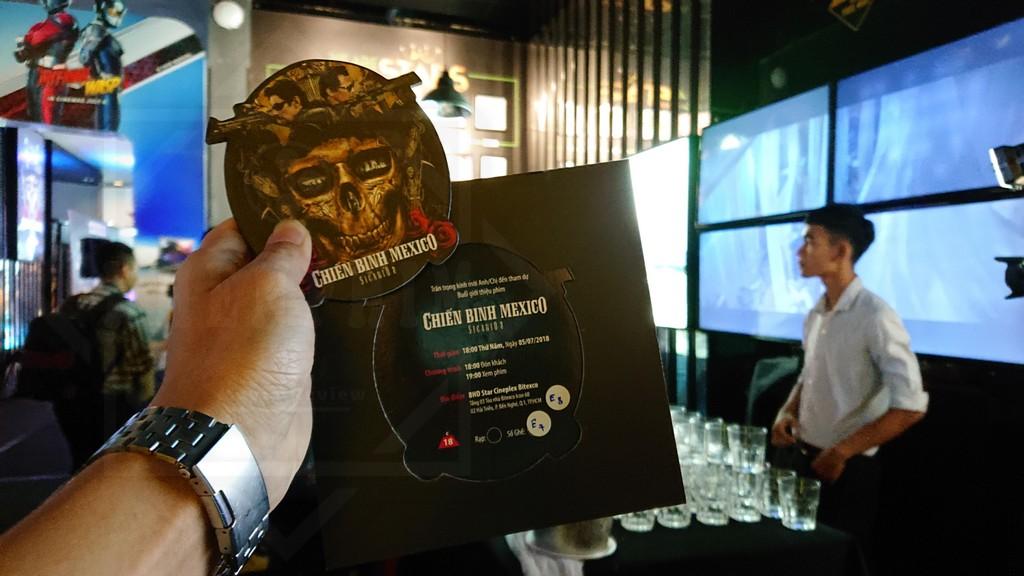 Vé xem phim tại buổi giới thiệu phim Chiến Binh Mexico
