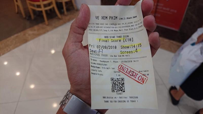 Vé xem phim Final Score (Trận Bóng Kinh Hoàng)