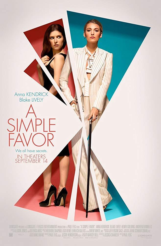 Poster phim A Simple Favor (Lời thỉnh cầu bí ẩn)