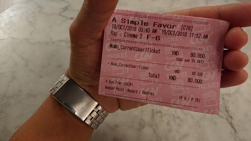 Vé xem phim - A Simple Favor (Lời thỉnh cầu bí ẩn)