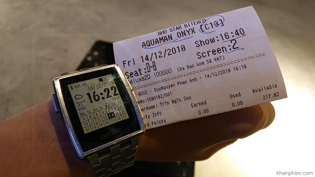 Vé xem phim Aquaman, phòng Onyx