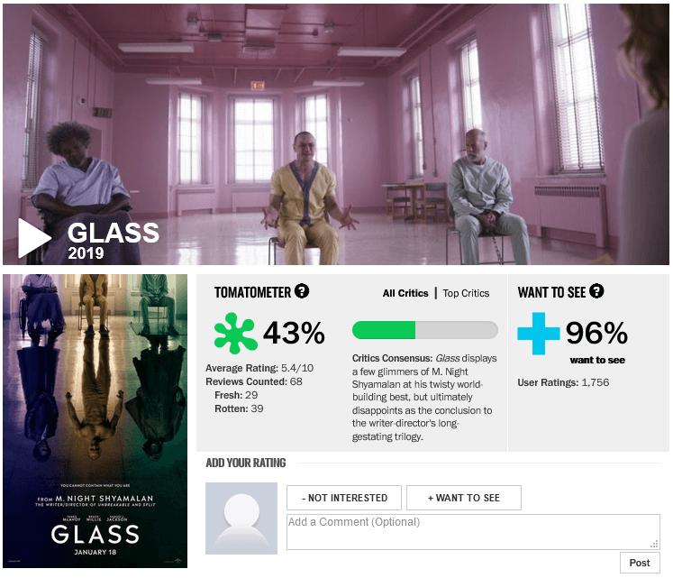 """Các nhà phê bình trên Rotten Tomatoes chấm phim này """"thối"""", tức là kém hấp dẫn."""